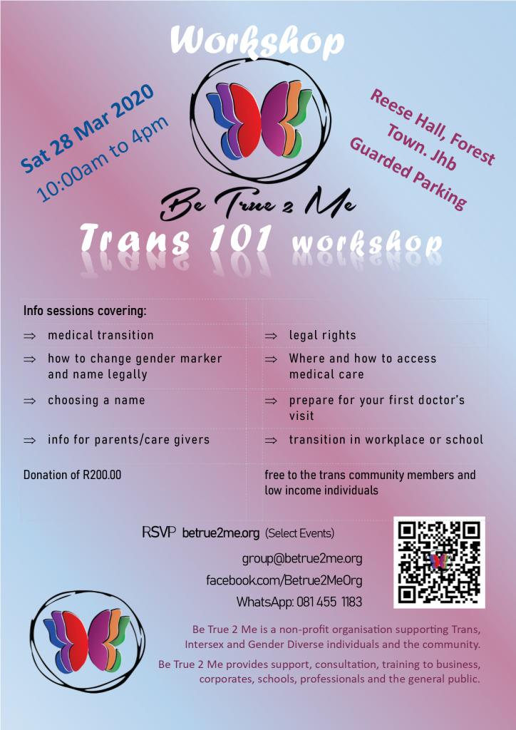 Trans 101 Workshop Gauteng March 2020